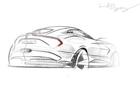 Aston Martin Sketch by dyrborgdesign