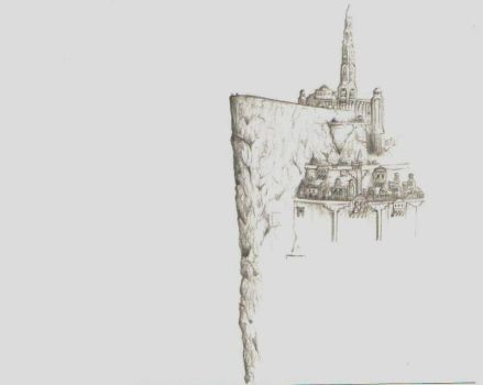 Minas Tirith_top levels_ by Simanion