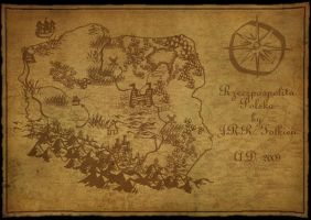 map by Tolkien by olopl