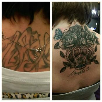 Crown and rose cover-up by MyHedHertz