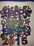Happy New Years 2015 Artwork Drawings by NWeezyBlueStars23