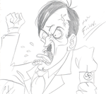 Hitler by DemonCartoonist