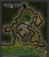 Swampy Cavern Map by Canada-Guy-Eh