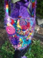 Crochet Rainbow Bag 1 by Faeriegem