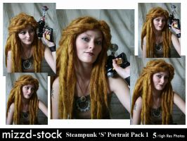 Steampunk S Portrait Pack 1 by mizzd-stock