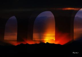 Sunset arches by digitalabstract
