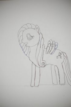Sketch:Fluttershy by SithLord67