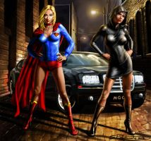supergirl and Ms mercy grace graves by SBraithwaite