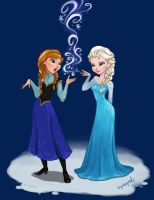 anna and elsa 2 by squeegool