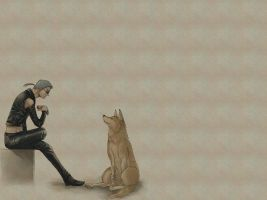 Toboe and Tsume wallpaper by LoveableNeko