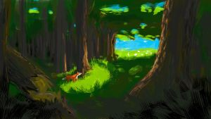 Forest of the fox by martialartist11