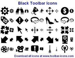 Black Toolbar Icons by Ikonod