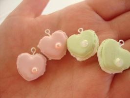 Cute Heart Shaped Macaroons by Lady-Callie