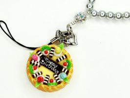 Fruit Tart Cell Phone Strap by SweetandCo