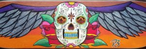 Mexican Skull to Sk8 Deck (finished) by rodrigobrazz