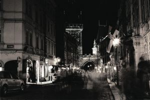Prague Night Walkers by CanisLupusMoon