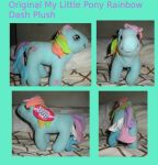 Original MLP Rainbow Dash Plush For Sale by HinataFox790