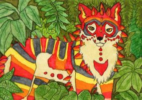 [ACEO #26] Enjeaux - Heart of the jungle by agataylor