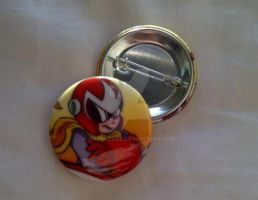 Megaman Button Collection - Protoman by Rattlesire