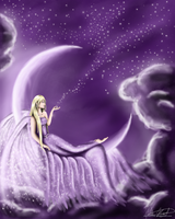 Angel in the Stars by namine1245