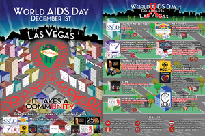 World AIDS Day 2011 poster front and back by JeffreyHamesGallery