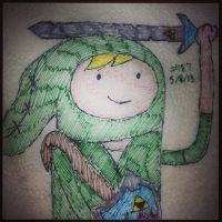 Napkin Art 187 - Hyrule Time - Adventure Linnk by PeterParkerPA
