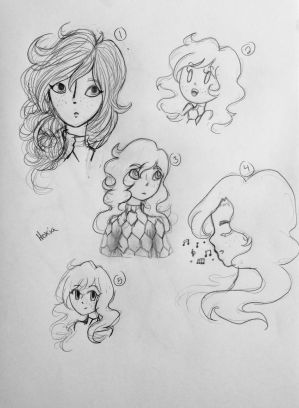 Contest Entries- Hexia Headshot Sketches by Winged-CatGirl-Kin
