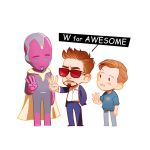 W for AWESOME by Hallpen