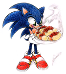 Sonic loves chili dogs by JA-punkster
