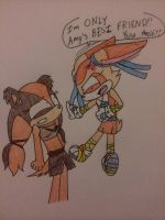 Cream reacts to Sticks the badger by Imtailsthefoxfan