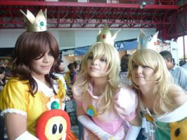 Princess Peach, Daisy and Rosalina by Nao-Dignity
