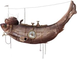 Steampunk Fish Vehicle by KingaBritschgi