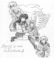 Merry X-mas Darkshadowblood Emily and Alex with In by IcyRoads
