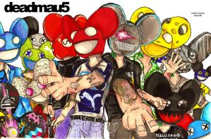 A lot of mau5heads by Kibou236