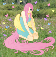 Fluttershy Revised Lines By Aphexangel-d49ph3f by Silverwolf020