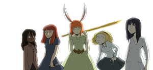 Characters based on Florence Songs by Super-Cute
