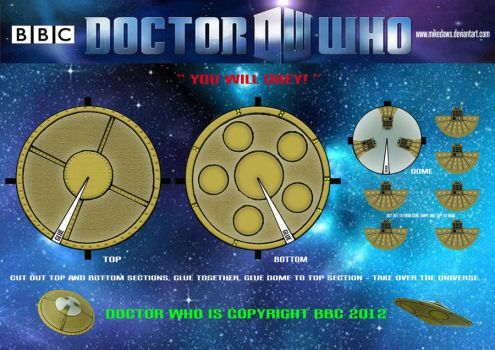 Doctor Who - Dalek Saucer by mikedaws