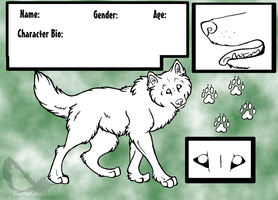 Wolf Reference Sheet Template by InsaneRoman