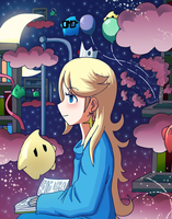 Rosalina Book Galaxy by VooDooDollMaster