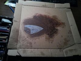 Pizza box drawing by coltonphillips