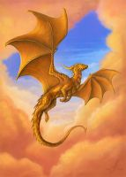 Dragon of the Golden sunrise by AlviaAlcedo