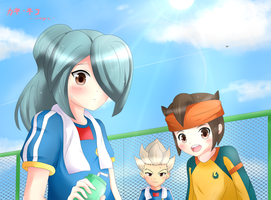 Inazuma Japan After Practice by KANE-NEKO