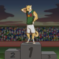 Nick on the Podium by Temiree
