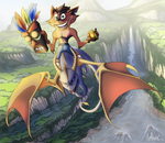 Spyro and Crash by KeiraHarcourt