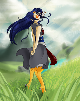 Wandering on a windy day by KittyKyomi