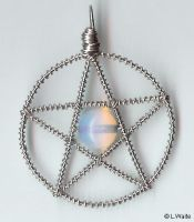 Moonstone Pentacle by LWaite