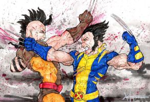 Wolverine vs Daken by ChrisOzFulton
