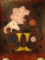Horse and floral billfold (Painted and antiqued) by Solvius