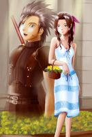 zack and aerith by Dsabotender