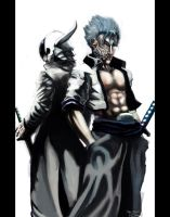 Ulquiorra and Grimmjow by Doomsplosion